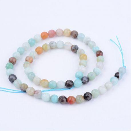 Natūralūs amazonito karoliukai, žalsvos-rusvos spalvos, perlams, vėriniams, apyrankėms, akmenėliams, karoliukams verti, 8 mm dyd