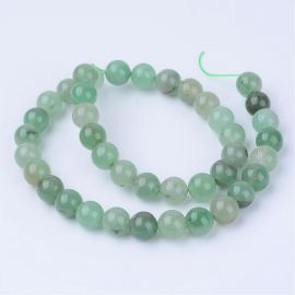Natural green avanturino beads, 6 mm., 1 strand