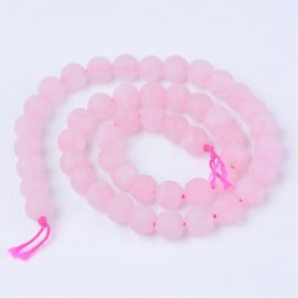 Natural Rose quartz beads, 6 mm., 1strand