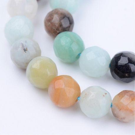 Natūralūs amazonito karoliukai, žalsvos-rusvos spalvos, perlams, vėriniams, apyrankėms, akmenėliams, karoliukams verti, 6 mm dyd