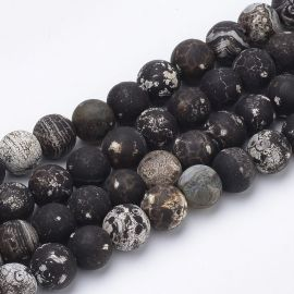 Natural Agate beads, 8 mm., 1 strand