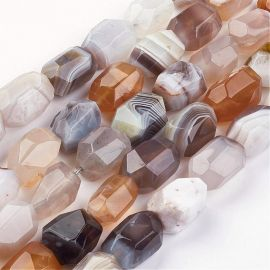 Natural Botswanos Agate beads, 15-26x10-20 mm., 1 pc