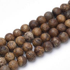 Agato karoliukai, 8 mm., 1 gija