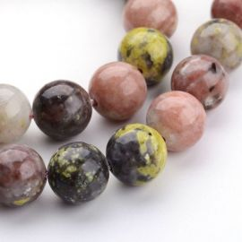 Natural stone beads, 10 mm., 1 strand