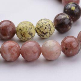 Natūralūs akmeniniai karoliukai, 8 mm., 1 gija