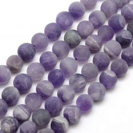 Natūralūs ametisto karoliukai, violetinės spalvos, perlams, vėriniams, apyrankėms, akmenėliams, karoliukams verti, 12 mm dydžio,