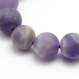 Natural ametisto beads, 12 mm., 1 strand