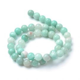 Natural Amazonite beads, 8 mm., 1 strand
