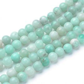 Natural Amazonite beads, 8 mm., 1 strand