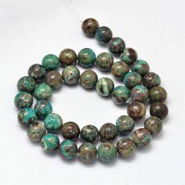 Okeaninio Agate beads, 10 mm., 1 strand