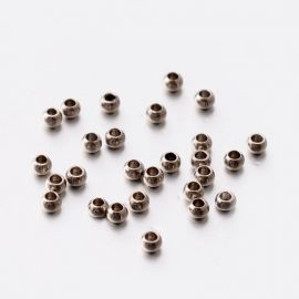 Nerūdijančio plieno 304 intarpas . Nikelio spalvos, rondelės formos, kaina - 0,61 Eur už 1 maišelis
