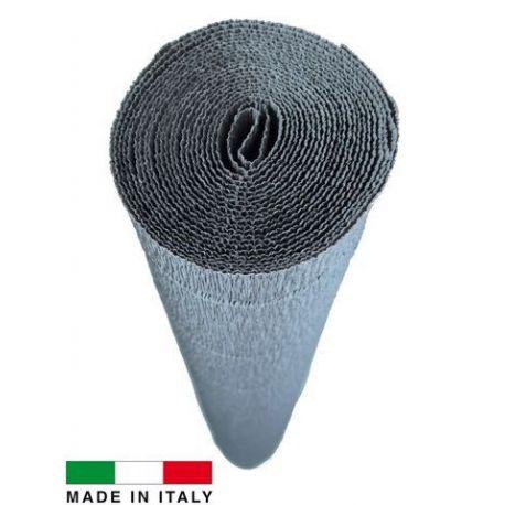 604 Cartotecnica Rossi gofruotas floristinis krepinis popierius, skirtas rankdarbiams, įpakavimams. Pilkos spalvos, kaina - 1,5