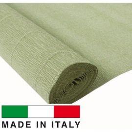 602 Cartotecnica Rossi gofruotas floristinis krepinis popierius, skirtas rankdarbiams, įpakavimams. Šviesiai žalios spalvos, ka