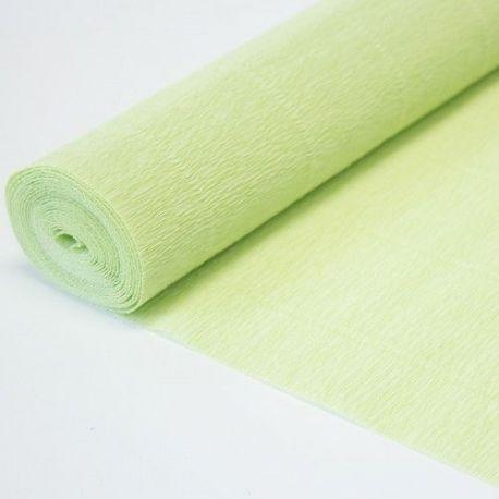 566 Cartotecnica Rossi gofruotas floristinis krepinis popierius, skirtas rankdarbiams, įpakavimams. Žalsvos spalvos,