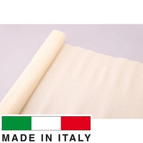 17A1 Cartotecnica Rossi gofruotas floristinis krepinis popierius, skirtas rankdarbiams, įpakavimams. Kreminės spalvos, kaina -
