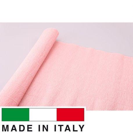 17A2 Cartotecnica Rossi gofruotas floristinis krepinis popierius, skirtas rankdarbiams, įpakavimams. Rausvos spalvos, kaina - 1