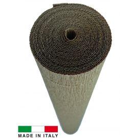 611 Cartotecnica Rossi gofruotas floristinis krepinis popierius, skirtas rankdarbiams, įpakavimams. Gelsvos spalvos, kaina - 1