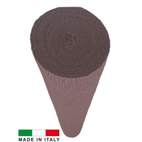 614 Cartotecnica Rossi gofruotas floristinis krepinis popierius, skirtas rankdarbiams, įpakavimams. Rudos spalvos, kaina - 1,55