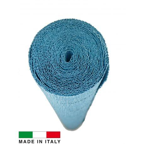 17E/3 Cartotecnica Rossi gofruotas floristinis krepinis popierius, skirtas rankdarbiams, įpakavimams. Žalsvos spalvos, kaina - 1