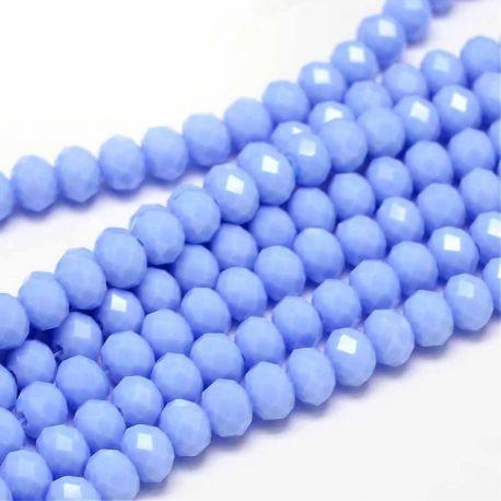 Puošnūs karoliukai naudojami rankdarbiams, suvenyrams gaminti, dekoruoti, 6x4 mm dydžio, 1 gija