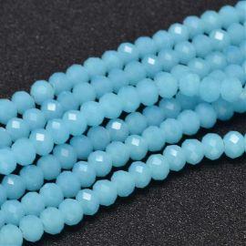 Stikliniai beads, 6x4 mm., 1 strand