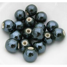 Puošnūs karoliukai naudojami rankdarbiams, suvenyrams gaminti, dekoruoti, 14 mm dydžio, 1 vnt