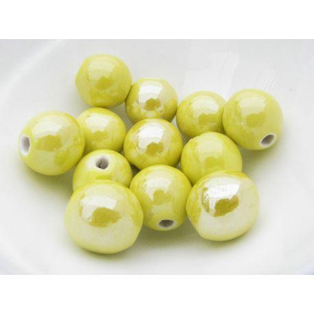 Puošnūs karoliukai naudojami rankdarbiams, suvenyrams gaminti, dekoruoti, 16 mm dydžio, 1 vnt