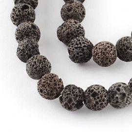 Akmenėliai naudojami rankdarbiams, suvenyrams gaminti, dekoruoti, 8 mm dydžio, 1 gija