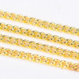 Brass chain, 2x1x0.35 mm., ~10 meters. 1 roll