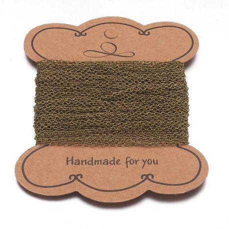 Grandinėlė naudojama rankdarbiams, suvenyrams gaminti, dekoruoti, 12 mm dydžio, 1 gija