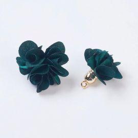Decorativemedžiaginė Flower with akriline kepurėle, 25-30x28 mm., 2 pc. 1 bag