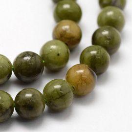 Natural Jade beads, 6 mm., 1 strand