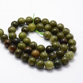 Natural Jade beads, 8 mm., 1 strand