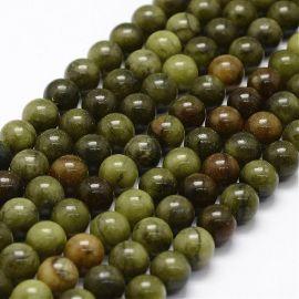 Akmenėliai naudojami dekoruoti, gaminiti papuošlus, randarbius, elementus aksesuarams, 8 mm dydžio, 1 gija. Kaina 5,5 Eur.
