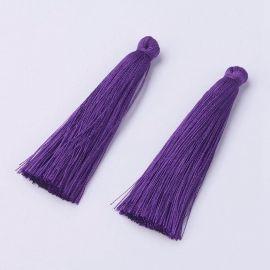 Poliesterio kutas. Tamsiai violetinės spalvos, ilgis 65 mm