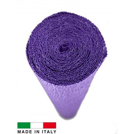 Itališkas krepinis popierius, violetinės spalvos, 2.50 x 0.50 m.