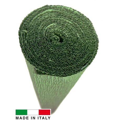 Itališkas krepinis popierius, žalios spalvos, 2.50 x 0.50 m.