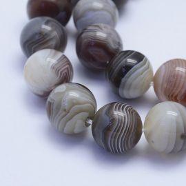 Natūralūs Botsvanos agato karoliukai, 14 mm., 4 vnt. 1 maišelis