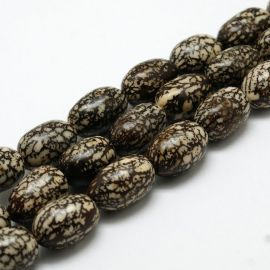 Natural Bodhi beads, 13x11 mm., 4 pc. 1 bag