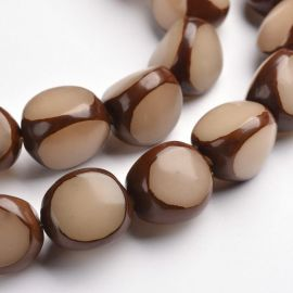 Natural Bodhi beads, 15x13 mm., 4 pc. 1 bag