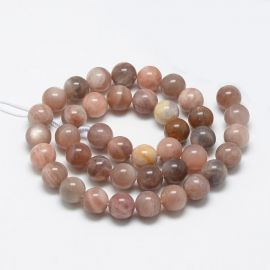 Natural withn stone beads, 10 mm., 1 strand