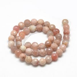 Natural withn stone beads, 8 mm., 1strand
