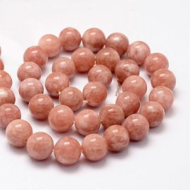 Natural withn stone beads, 8 mm., 1 strand