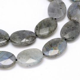 Natural Labradorite beads, 18x13x5 mm., 1 pc