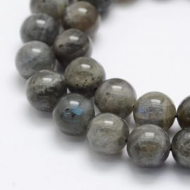 Natural Labradorite beads, 10 mm., 1 strand