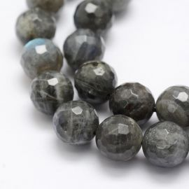 Natural Labradorite beads, 12 mm., 1 strand