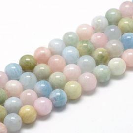 Natural Morganite beads, 10 mm., 1 strand