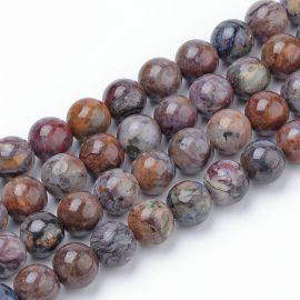 Natūralūs Pietersito karoliukai, 12 mm., 1 gija