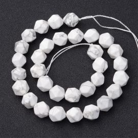 Natural Howlite beads, 10x12 mm., 1strand
