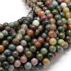 Natural Indijos Agate beads, 8 mm., 1 strand